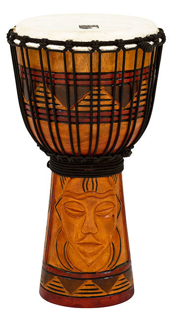 Toca Origins Series Wooden Djembe 08 Inch Tribal Mask