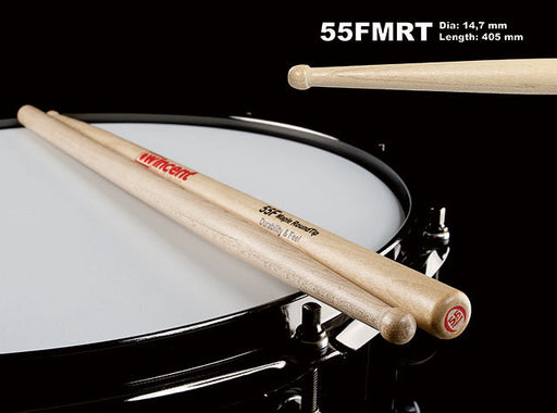 Wincent Maple Round Wood Tip Drum Sticks (3 Sizes)