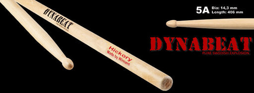 Wincent Dynabeat USA Hickory Wood Tip Drum Sticks (3 Sizes)