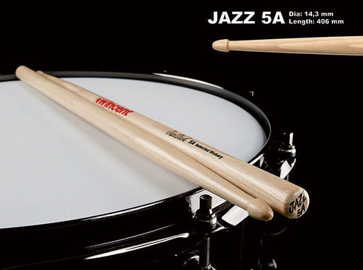 Wincent USA Hickory Standard Wood Tip Jazz 5A Drum Sticks