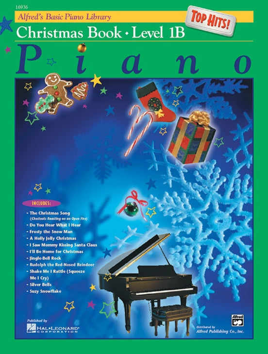Alfred's Basic Piano Library: Top Hits! Christmas Book 1B