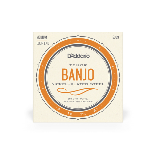 Tenor Banjo String Set D'Addario EJ63 Nickel Plated