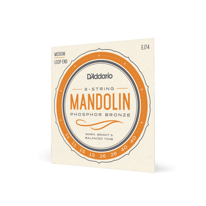 D'Addario Mandolin Strings Phosphor Bronze Medium Gauge
