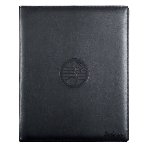 Rondofile Binder Black Leather Deluxe