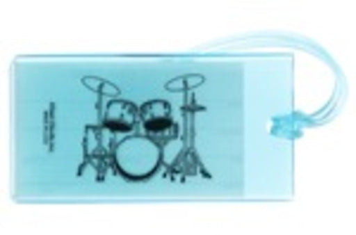 Music ID Tag Soft Rubber - Drum Set Drum Kit