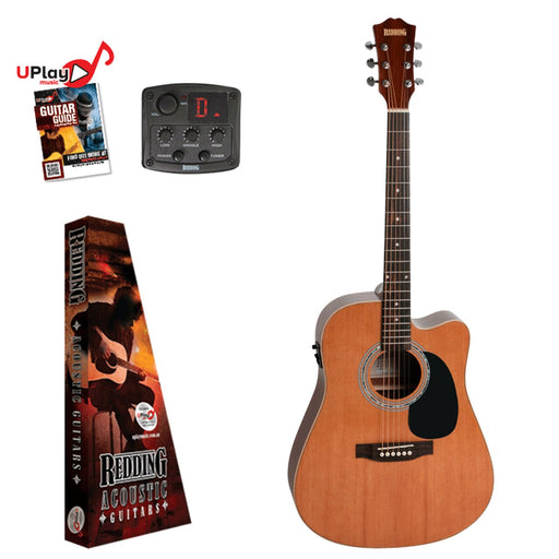 Redding Acoustic Electric Guitar Dreadnought Left Handed