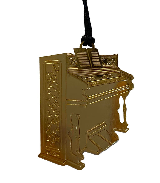 Gold Metal Music Bookmark - Piano
