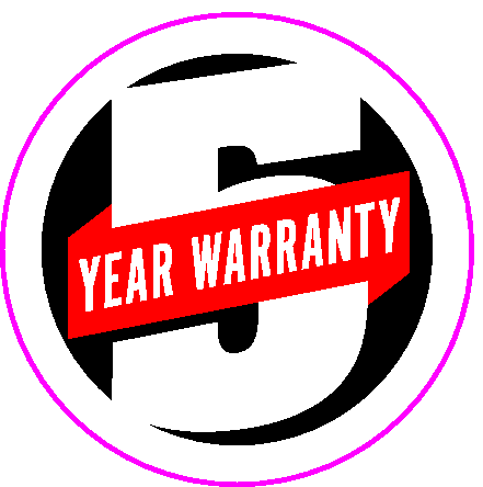New 5 Year Warranty Badge