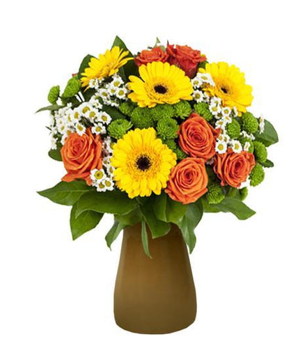 DESERT COLORED FLOWERS IN VASE