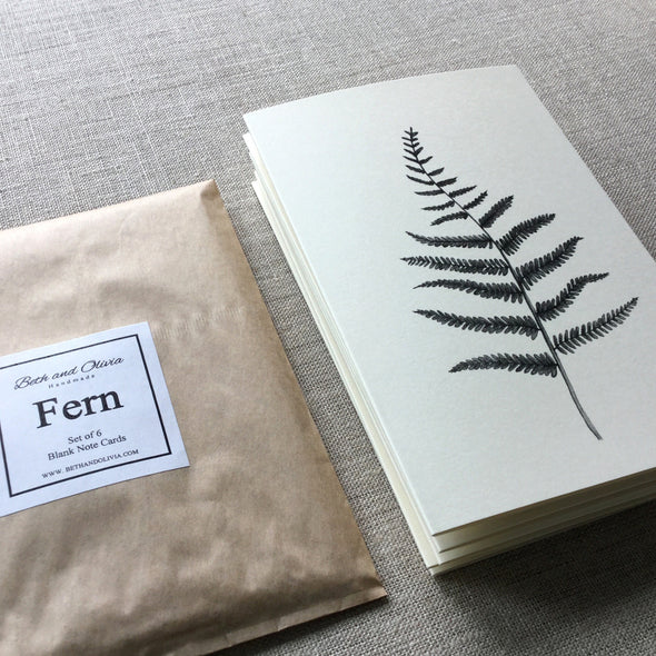 Set of 6 Fern Note Cards