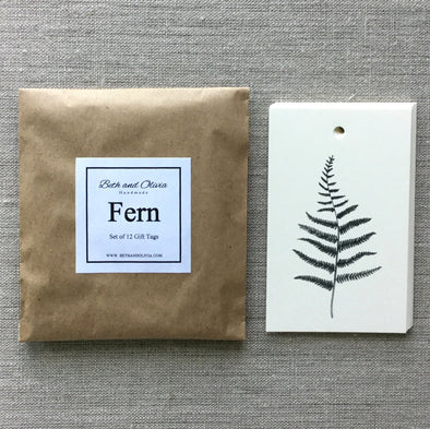 Set of 12 Fern Gift Tags