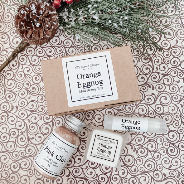 Orange Eggnog Mini Beauty Box