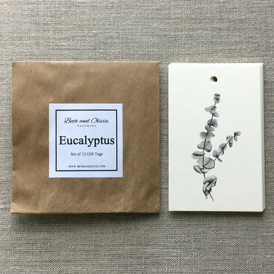 Set of 12 Eucalyptus Gift Tags