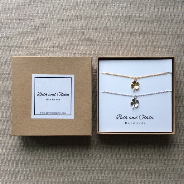 Clover Double Charm Necklace Set