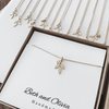 Gold Matron of Honor Leaf Necklace
