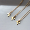 Gold Matron of Honour Leaf Necklace