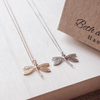 Dragonfly Double Charm Necklace Set