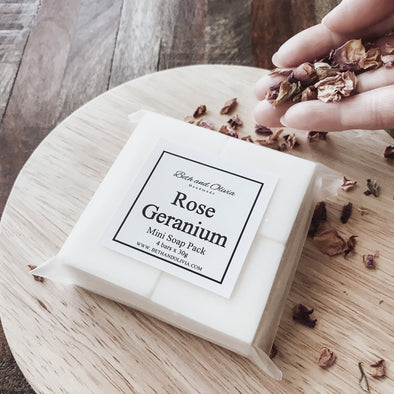 Rose Geranium Mini Soap Pack
