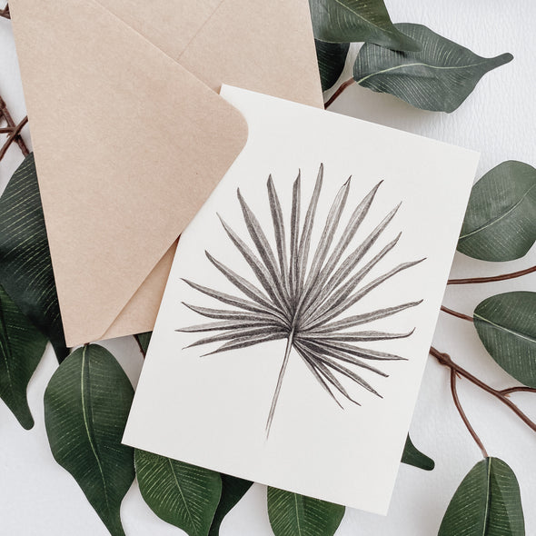 Fan Palm Leaf Card