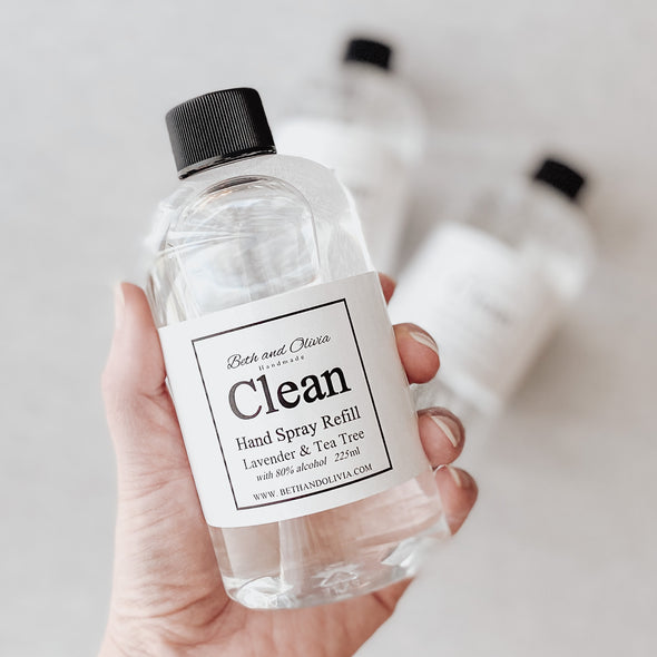 Clean Hand Spray Refill with Lavender & Tea Tree 225ml