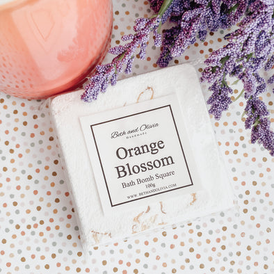 Orange Blossom Bath Bomb Square