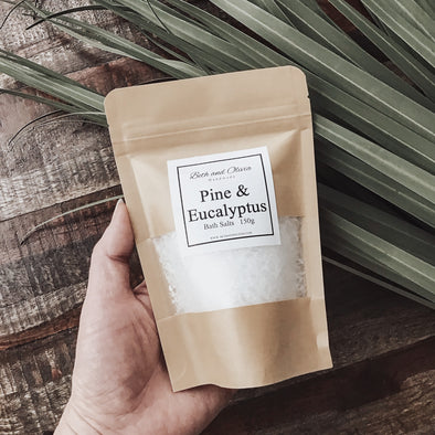 Pine and Eucalyptus Bath Salts 150g