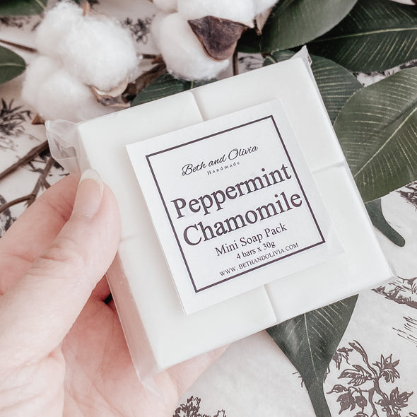 Peppermint Chamomile Mini Soap Pack