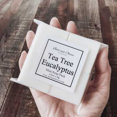 Tea Tree Eucalyptus Mini Soap Pack