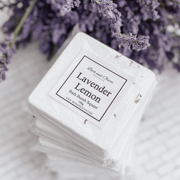 Lavender Lemon Bath Bomb Square