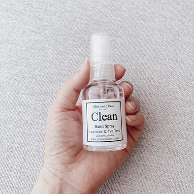 Clean Hand Spray with Lavender & Tea Tree 50ml