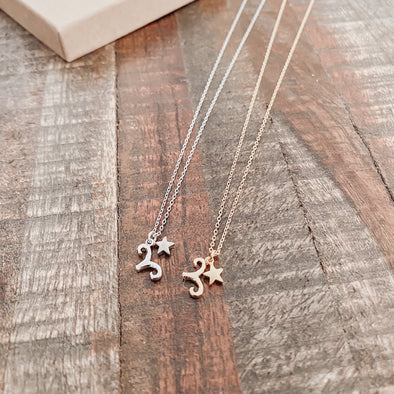 Aries Zodiac Charm Necklace