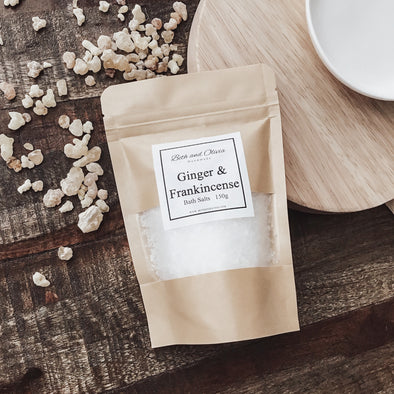Ginger and Frankincense Bath Salts 150g