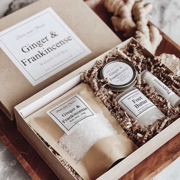 Ginger and Frankincense Wellness Gift Box