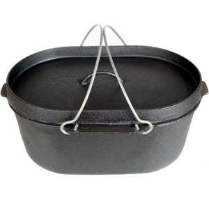 Cast Iron Camp Pot Oval 8 qt