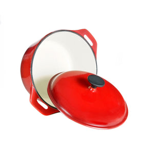 Dutch Oven Red Enamel Knob 5qt