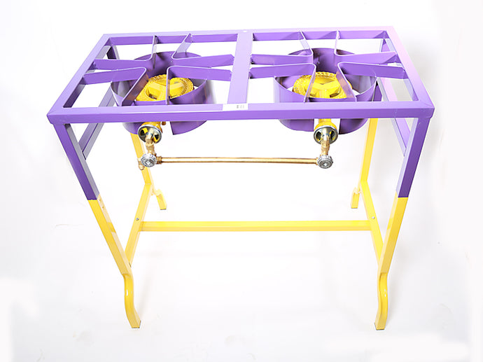 2 Burner Purple/Gold Guality Stove - Low Pressure