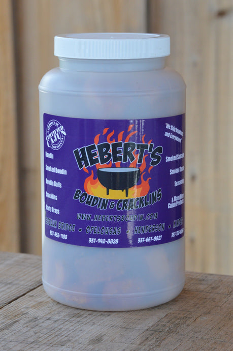 Hebert's Cajun Cracklins 1/2 Gallon