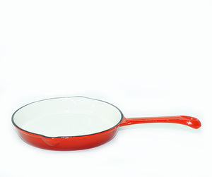Skillet Red Enamel 10""