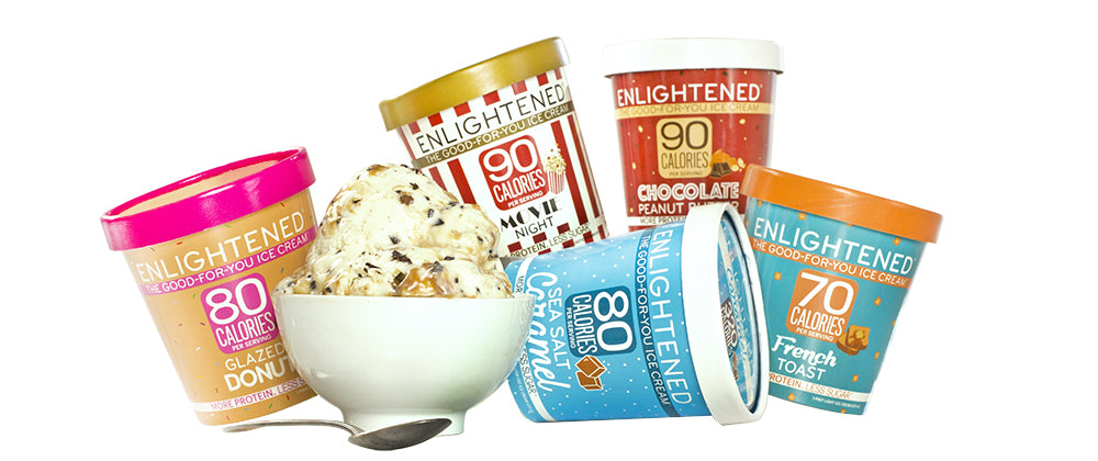 ENLIGHTENED Low Calorie Low Sugar Ice Cream Pints