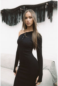 Johansen Pinot Dress in Black
