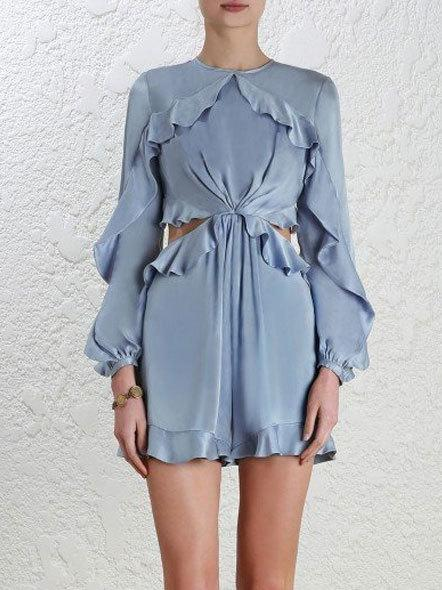 Zimmermann Winsome Flutter Silk Playsuit