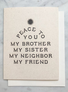 Peace to You Card