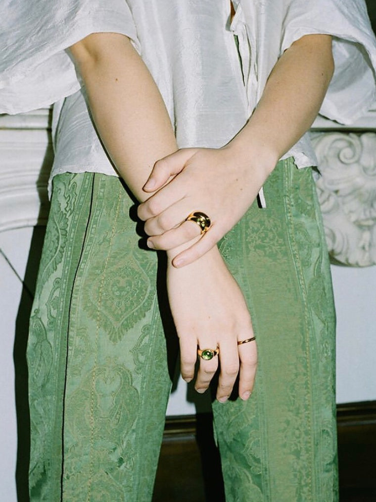 Magda Ring in Peridot and Gold