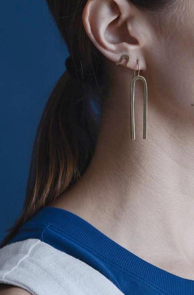 Linear Brass Earrings
