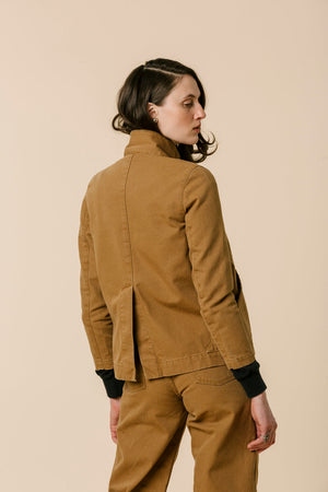 Carleen Triangle Pocket Jacket - Wheat