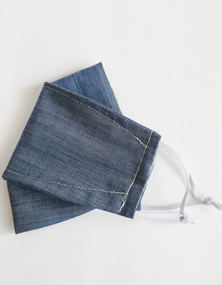 Origami Mask - Blue Denim