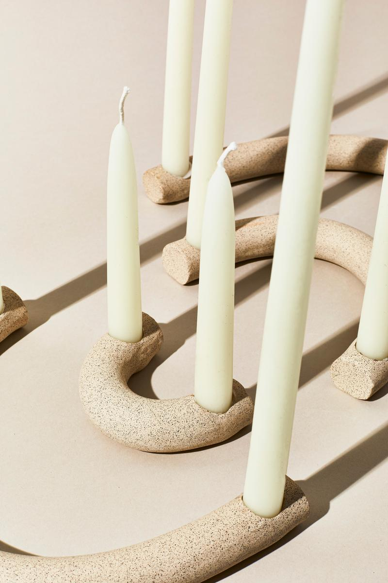 Arc Candleholders - Speckled