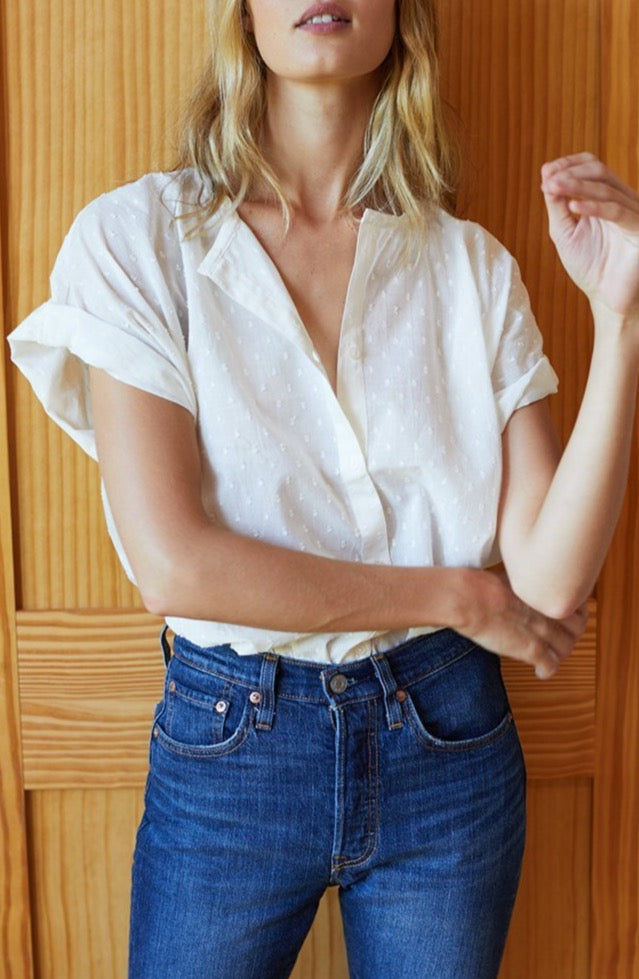 Light Cotton Blouse in White