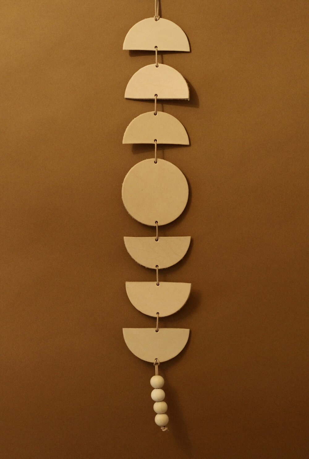 Leather Moon Wall Hanging