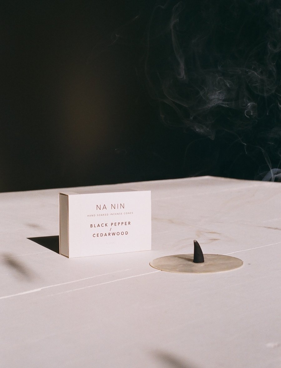 Black Pepper / Cedarwood Incense Cones